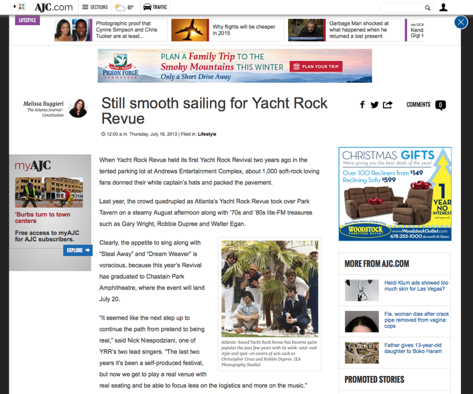 AJC - Yacht Rock Revue Article