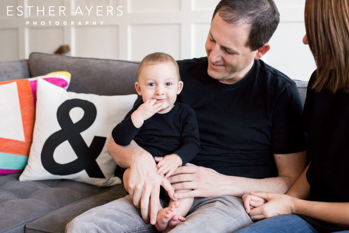 Six Month Old Boy with Dad - Esther Ayers Photography